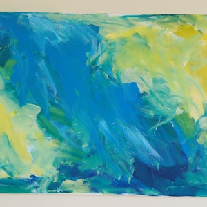 (CreativeWork) Study One by Charis Harper. arcylic-painting. Shop online at Bluethumb.