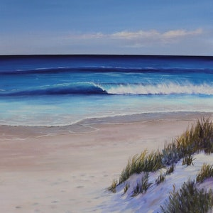(CreativeWork) Salty Breeze  by Ann Steer. arcylic-painting. Shop online at Bluethumb.