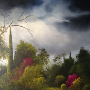 (CreativeWork) Twilight Storm by Elaine Green. oil-painting. Shop online at Bluethumb.