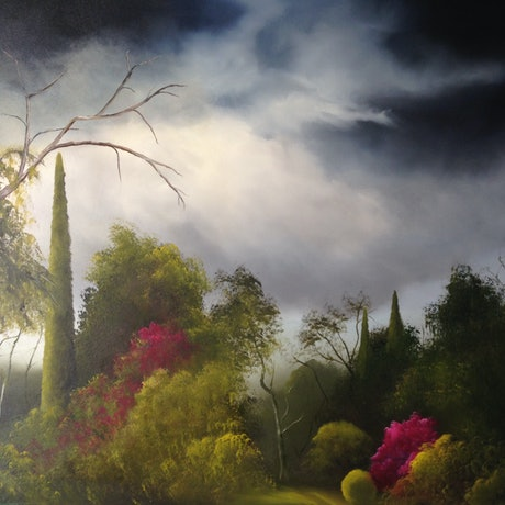 (CreativeWork) Twilight Storm by Elaine Green. Oil Paint. Shop online at Bluethumb.