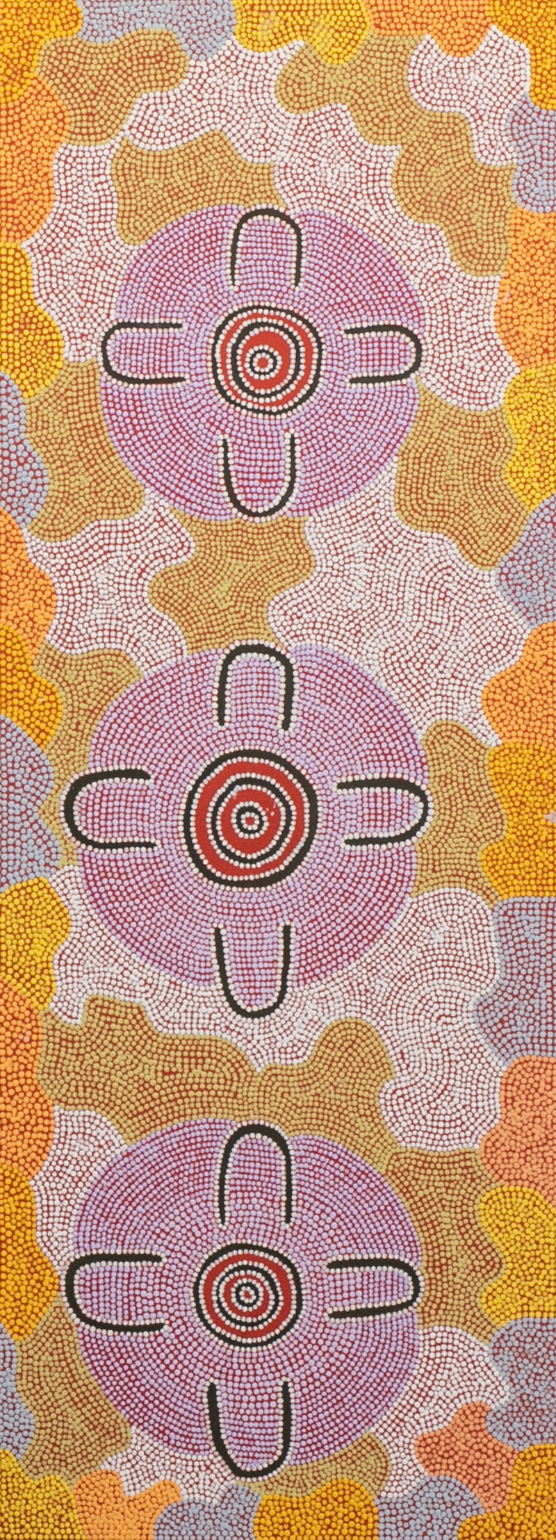 (CreativeWork) Kapi Tjukurrpa - 513-18 by Ada Andy Napaltjarri. arcylic-painting. Shop online at Bluethumb.