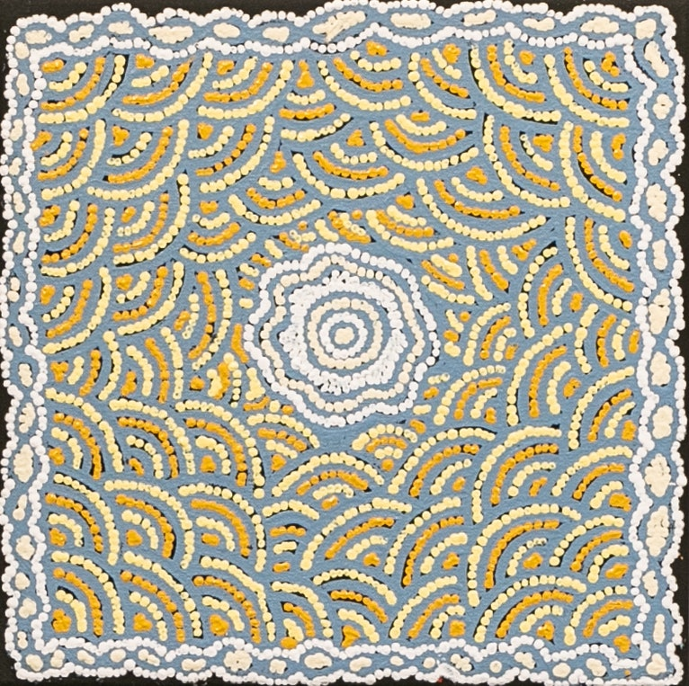 (CreativeWork) Kapi Tjukurrpa - 499-18 by Puuni Brown Nungarrayi. arcylic-painting. Shop online at Bluethumb.