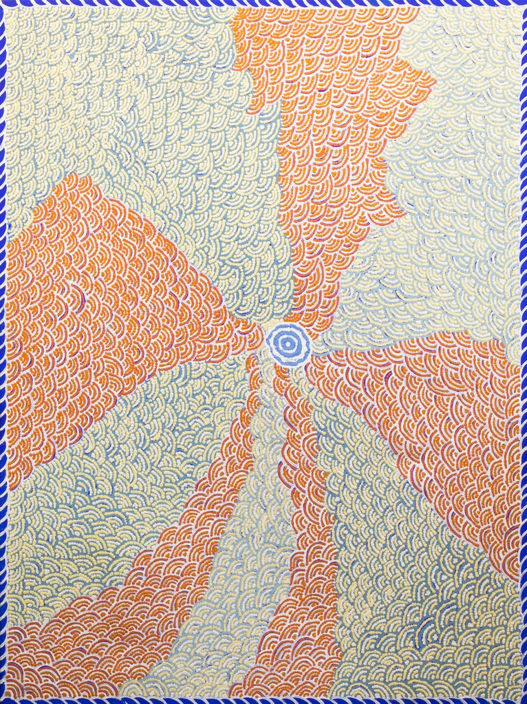 (CreativeWork) Kapi Tjukurrpa - 348-18 by Puuni Brown Nungarrayi. arcylic-painting. Shop online at Bluethumb.