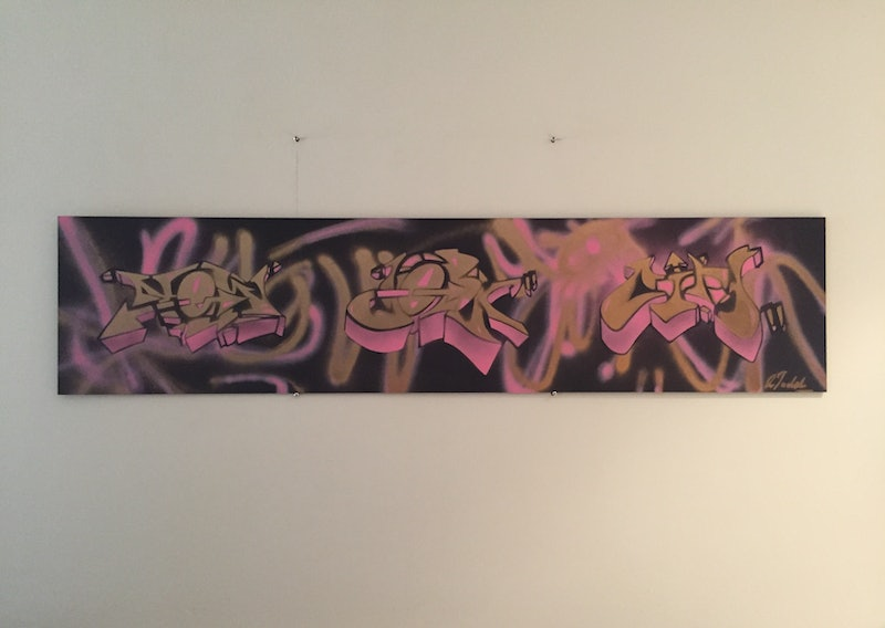 new york city graffiti piece two by adam todd paintings for sale