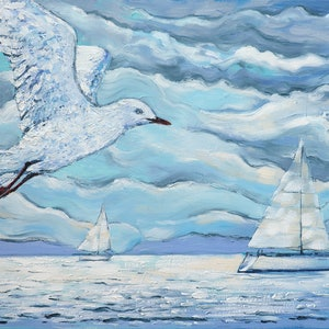 (CreativeWork) Racing with the wind by Irina Redine. oil-painting. Shop online at Bluethumb.