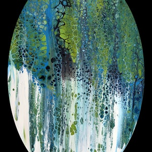 (CreativeWork) Abstract Forest #1 by Brigitte Ackland. arcylic-painting. Shop online at Bluethumb.