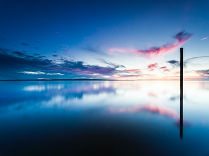 (CreativeWork) Westernport twilight post by Piers Buxton. photograph. Shop online at Bluethumb.