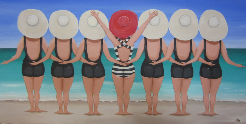 (CreativeWork) Standing out in the crowd by Andrea Berry. arcylic-painting. Shop online at Bluethumb.