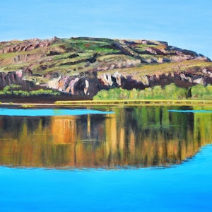 (CreativeWork) Kimberley Reflections by Robin Tunnicliffe. oil-painting. Shop online at Bluethumb.