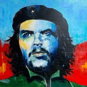 (CreativeWork) Che by Tom Roso. arcylic-painting. Shop online at Bluethumb.