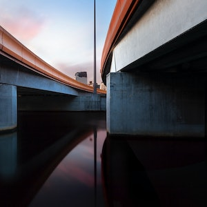 (CreativeWork) Charles Grimes Bridge, Melbourne Ed. 1 of 6 by Piers Buxton. photograph. Shop online at Bluethumb.