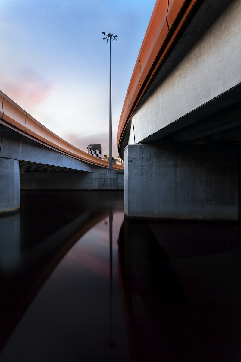 (CreativeWork) Charles Grimes Bridge, Melbourne by Piers Buxton. photograph. Shop online at Bluethumb.