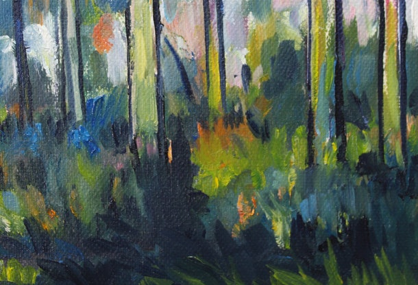 (CreativeWork) Brooyar Forest 5 by Glenn Miller. Oil Paint. Shop online at Bluethumb.
