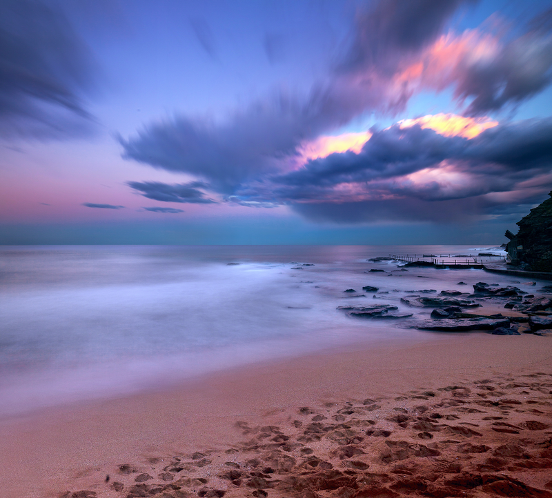 (CreativeWork) Twilight at Newport Beach by Piers Buxton. photograph. Shop online at Bluethumb.