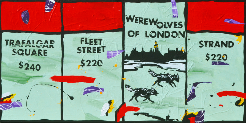 (CreativeWork) Werewolves of London by Ben Tankard. arcylic-painting. Shop online at Bluethumb.