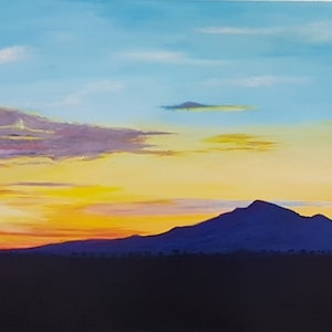 (CreativeWork) Last Light Peace by Michelle Payne. arcylic-painting. Shop online at Bluethumb.