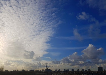 (CreativeWork) Looking west from Bellamydwaartstraat/ Amsterdam Sky by Rob Maxwell. photograph. Shop online at Bluethumb.