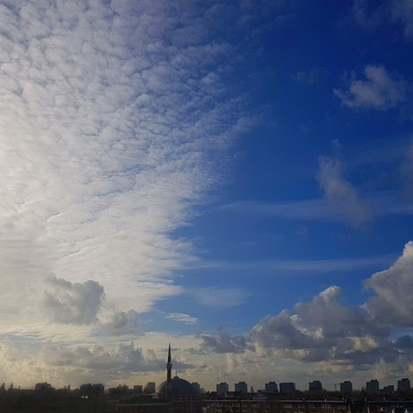 (CreativeWork) Looking west from Bellamydwaartstraat/ Amsterdam Sky Ed. 1 of 100 by Rob Maxwell. Photograph. Shop online at Bluethumb.