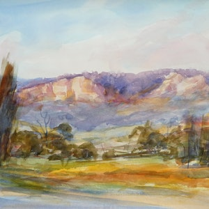 (CreativeWork) north of Injune by TONY WALKER. watercolour. Shop online at Bluethumb.