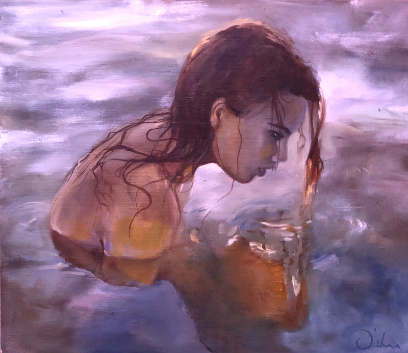 (CreativeWork) Lorelei by Skye O'Shea. Oil Paint. Shop online at Bluethumb.