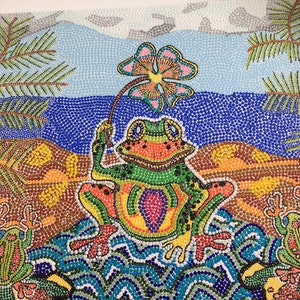 "(CreativeWork) ""Happy Frogs"" by Joy Fitzsimons. arcylic-painting. Shop online at Bluethumb."