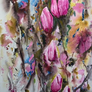 (CreativeWork) When Winter Ends by Lorraine Brown. watercolour. Shop online at Bluethumb.