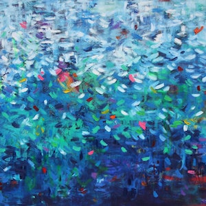 (CreativeWork) The Great Deep  by Belinda Nadwie. oil-painting. Shop online at Bluethumb.