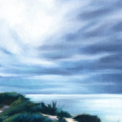 (CreativeWork) Afternoon Light at Point Nepean by maria radun. Oil Paint. Shop online at Bluethumb.