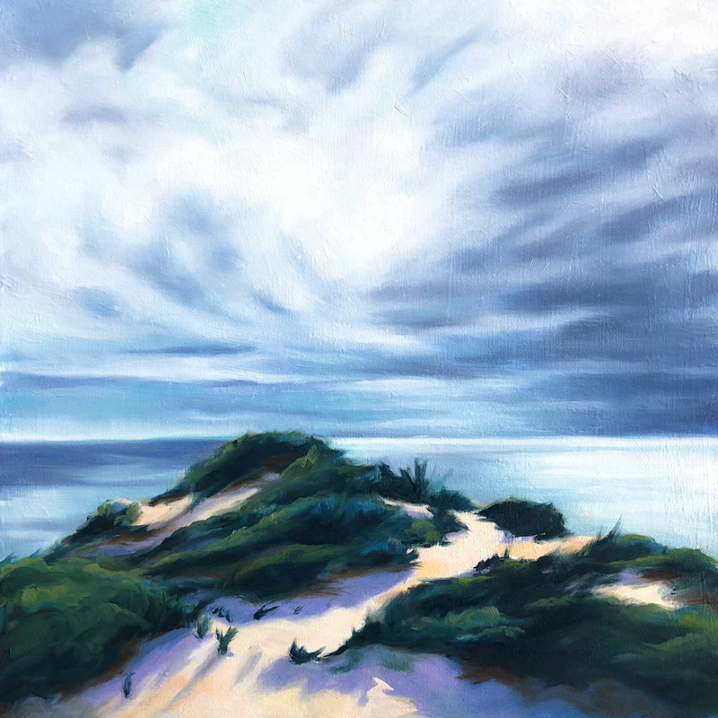 (CreativeWork) Afternoon Light at Point Nepean by maria radun. oil-painting. Shop online at Bluethumb.