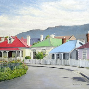 (CreativeWork) Arthur Circus, Battery Point (Facing Mountain) Ed. 1 of 20 by Michael Bessell. print. Shop online at Bluethumb.
