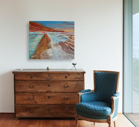 (CreativeWork) Somewhere Illawarra by Sharon Robards. Oil Paint. Shop online at Bluethumb.