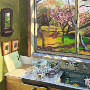 (CreativeWork) Kitchen Sink by James Needham. oil-painting. Shop online at Bluethumb.