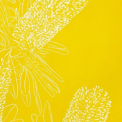 (CreativeWork) Banksia   Yellow Ed. 7 of 50 by Elizabeth MacDougall. Print. Shop online at Bluethumb.