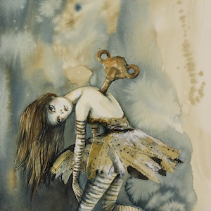(CreativeWork) Have You Ever Been Lonely? by Sara Riches. mixed-media. Shop online at Bluethumb.