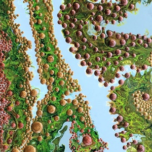 (CreativeWork) 'Seaweed' by Hilary Graham. arcylic-painting. Shop online at Bluethumb.