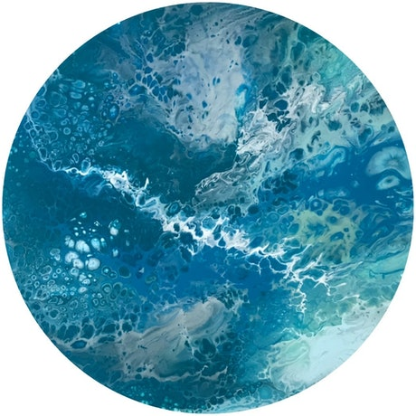 (CreativeWork) Oceanic Swells  by Virginia Harding. Acrylic Paint. Shop online at Bluethumb.
