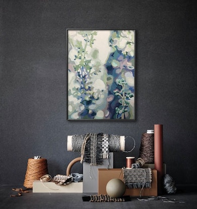 (CreativeWork) Here by Aylee Kim. Oil. Shop online at Bluethumb.