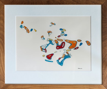 (CreativeWork) Amoeba's by Piers Buxton. arcylic-painting. Shop online at Bluethumb.