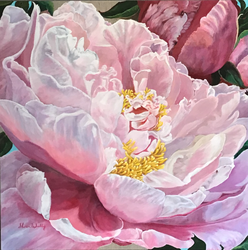 (CreativeWork) GRACE, artists acrylic and oil on linen by Sharon DeSailly. Oil Paint. Shop online at Bluethumb.
