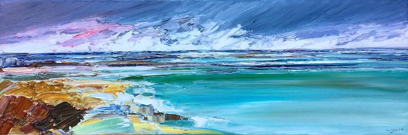 (CreativeWork) Diamond Sands by Katie Wyatt. oil-painting. Shop online at Bluethumb.