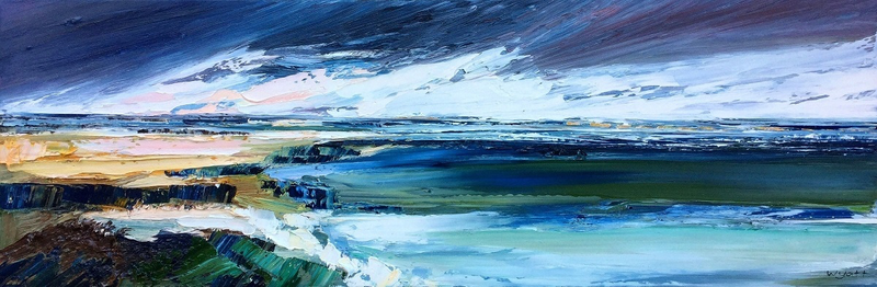 (CreativeWork) Ebb and Flow by Katie Wyatt. oil-painting. Shop online at Bluethumb.