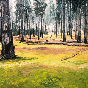 """(CreativeWork) """"Kuipto Forest 2""""  by Sarah McDonald. oil-painting. Shop online at Bluethumb."""