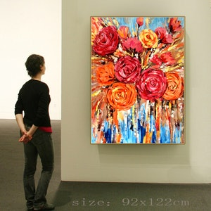 (CreativeWork) hand oil painting  by Rain wu. arcylic-painting. Shop online at Bluethumb.