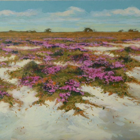 (CreativeWork) Salt Pan - Wickepin W.A. by Lyn Lee. Acrylic Paint. Shop online at Bluethumb.