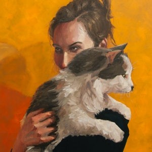 (CreativeWork) I've got your back by James Needham. oil-painting. Shop online at Bluethumb.