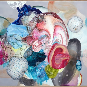 (CreativeWork) Deep Sea Diaphanous by Amanda Krantz. arcylic-painting. Shop online at Bluethumb.