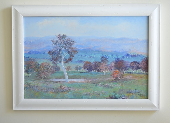 (CreativeWork) AUTUMN LIGHT BRINDABELLAS  - framed by Jan Matson. Oil Paint. Shop online at Bluethumb.