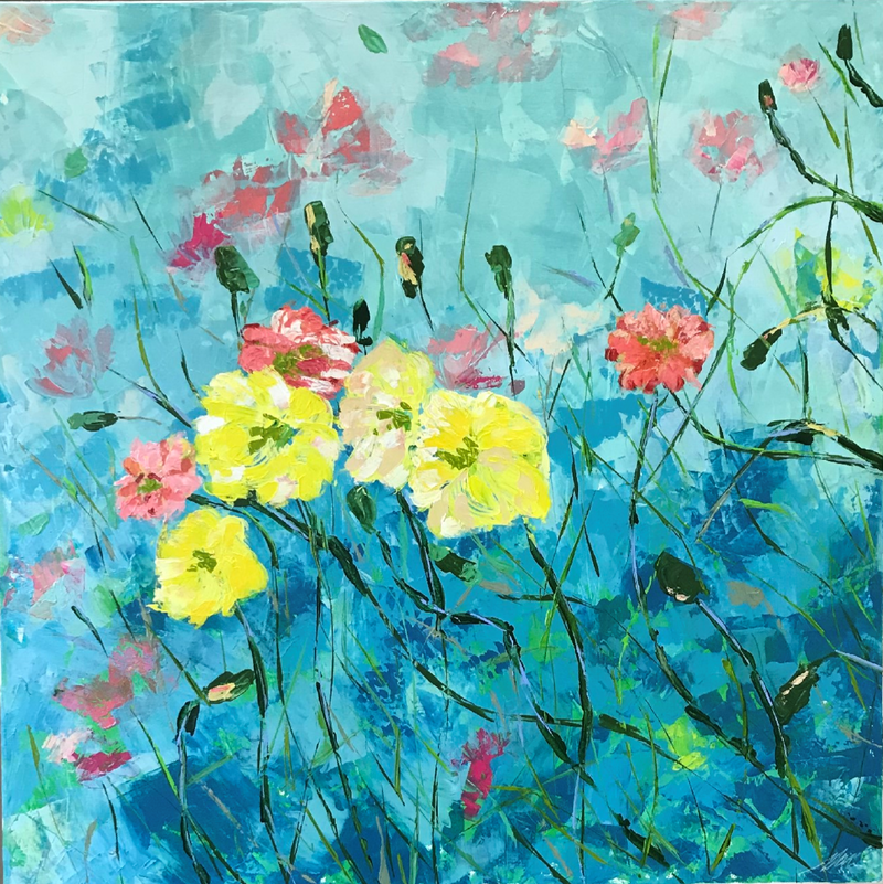 (CreativeWork) In the field by Maggie Deall. arcylic-painting. Shop online at Bluethumb.