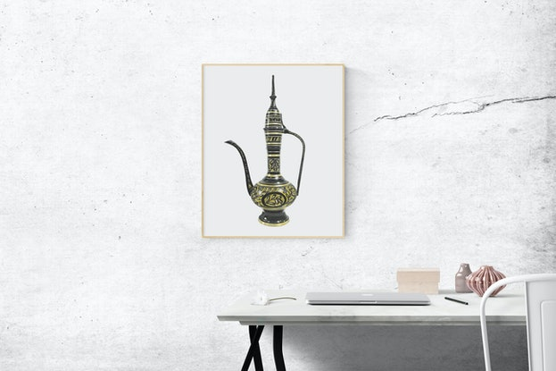 (CreativeWork) Coffee Pot by Tamara Michael. Drawings. Shop online at Bluethumb.
