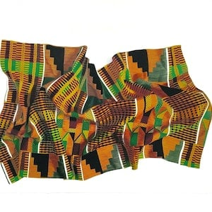 (CreativeWork) Kente Cloth by Tamara Michael. drawing. Shop online at Bluethumb.